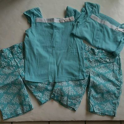 Janie and Jack Girl's Set of 2 Outfits Shorts Shirts Size 7 8 Suite Retreat Line