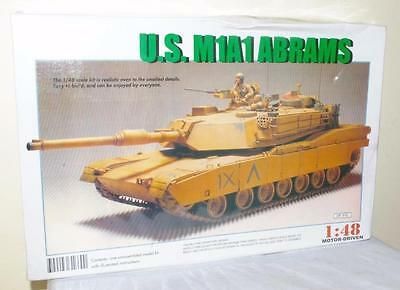 Us M1A1 Abrams Tank Plastic Kit -1:48 Scale  Factory Sealed