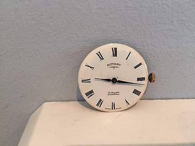 Vintage Gents Rotary 17 Jewels Incabloc Enamel Watch Face & Movement