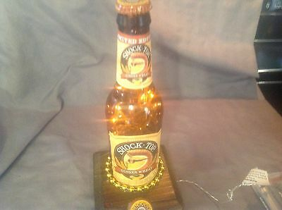 Handmade Shock Top Ginger Wheat Beer Bottle Table Lamp Decoration BEER LAMP