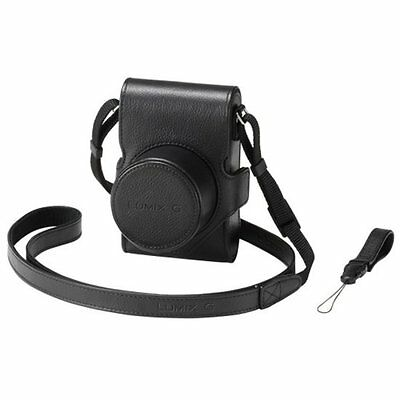 NEW Panasonic Lumix G DMW-CGK28 Leather Case for GM1 Digital Camera Black