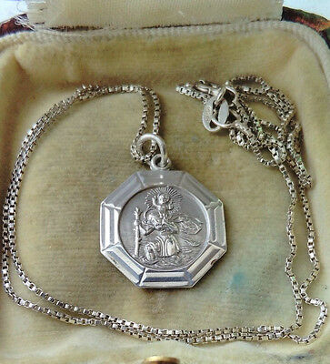 Vintage Solid Silver Georg Jensen St Christopher Necklace