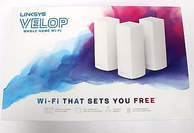 Linksys Velop Tri-Band Whole Home Wi-Fi System 3-Pack Coverage up to 6000 sq.ft