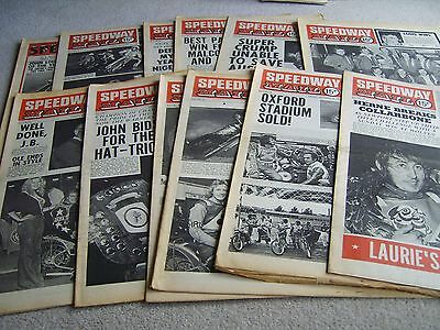 12 1975 Speedway Mail newspapers, Volume 3 issues, October to December
