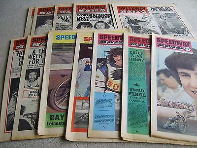 13 1976 Speedway Mail newspapers, July-Sep Vol 4 incl' Colour issues
