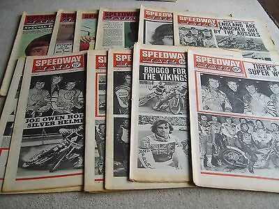 13 1976 Speedway Mail newspapers, April-June Vol 4 incl' Colour issues