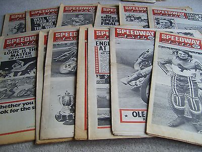 13 1975 Speedway Mail newspapers, Volume 3 issues, July to September