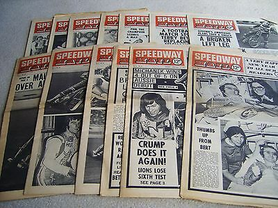 13 1975 Speedway Mail newspapers, Volume 2 issues, January to March