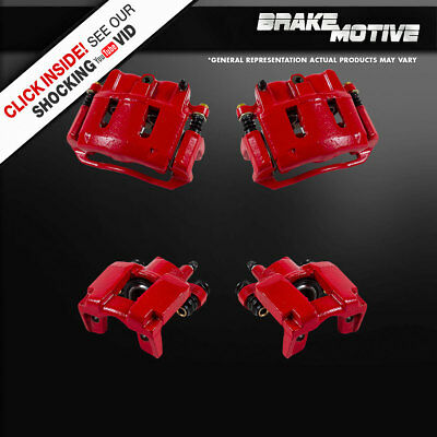 Front + Rear Red Powder Coated Brake Calipers Ford Explorer Ranger Mountaineer