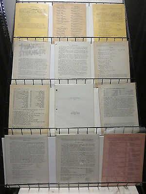 Gene Reed Lot of 12Diff DC Comics Fan Zine Mimeographs Odds & Ends Research!