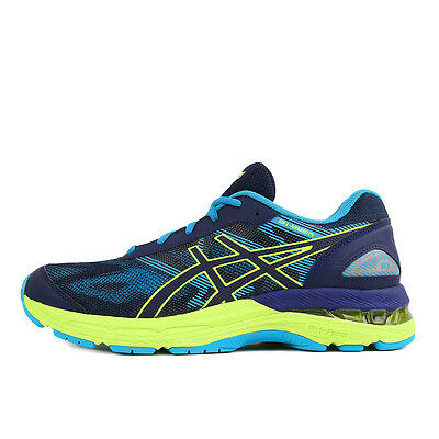 Asics Gel Nimbus 19 GS Indigo Blue Safety Yellow Kids Kinder Laufschuhe Blau