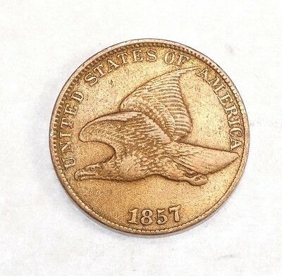 BARGAIN 1857 Flying Eagle Cent EXTRA FINE Small 1-Cent