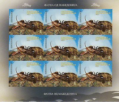 Macedonia / 2009 / River Cancer / Imperforated Sheet !!! RARE !!!