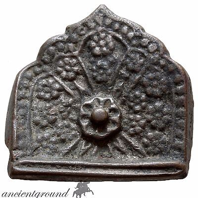 Byzantine Bronze Silvered Ornament Decorated With Floral Circa 1000 Ad