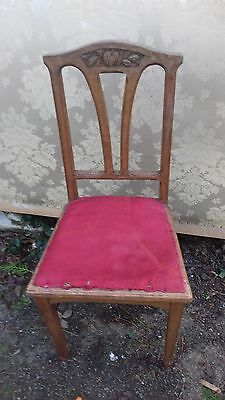 Antique /vintage Oak Carved French Occasional/dining Chair