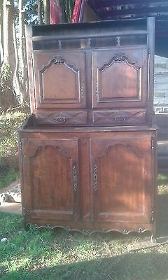 Antique Ancient Oak 18Thc French Cupboard/vaissillier/plate Rack Dresser