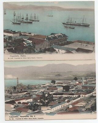 2 Vintage Postcards Coquimbo Chile ca 1915