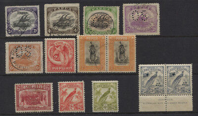 New Guinea / Papua MNH (Pair), MH / Used Selection Lakatoi, Airmails CV £84+