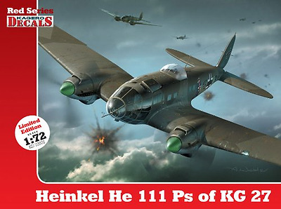 Heinkel He 111 Ps of KG 27 (Kagero Decals Red Series 1/ - Paperback NEW Maciej G