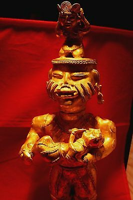 Pre-Colombian Tumbaga Giant Queen Royalty Figure  Lost Wax Gold/silver/copper