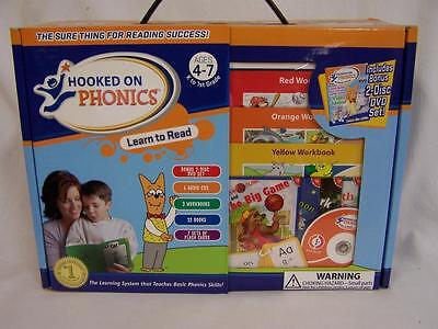 NEW HOOKED ON PHONICS Learn To Read K-1st Grade for 4-7 Years Kit Books CD's,+++