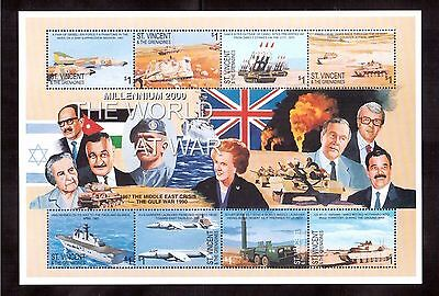 St.vincent & The Grenadines 2000 #2827 S/s Of 8 Stamps Mint Nh, World At War !!