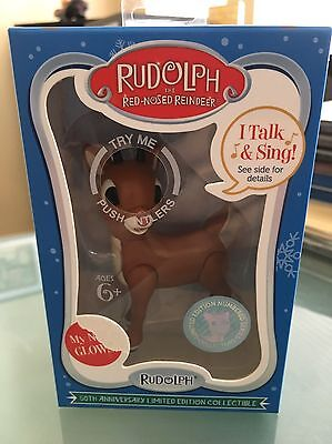 Rudolph The Red-Nosed Reindeer 50th Anniversary Collectible Light Up Figurine