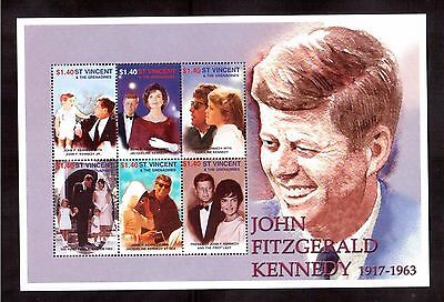 St.vincent & The Grenadines 2001 #2989 S/s Of 6 Stamps Mint Nh, John Kennedy !!