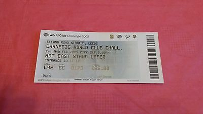 Leeds Rhinos v Bulldogs 2005 World Club Challenge Used Rugby League Ticket