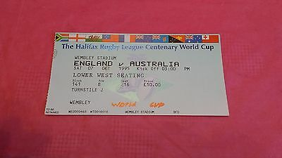 England v Australia 1995 World Cup Used Rugby League Ticket