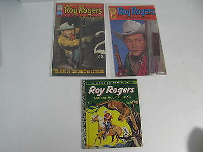 Lot of 3: Roy Rogers 2 Comics & 1 Book Vintage Assortment(EX)