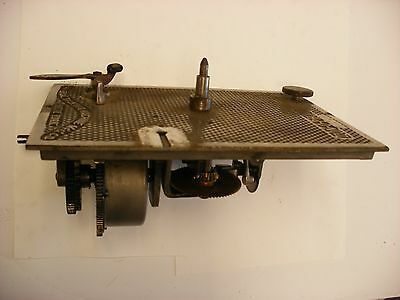 Original Concert Zonophone Phonograph Parts Bed plate Brake Speed Control Motor