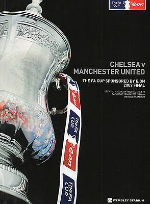 2007 FA Cup Final Chelsea v Manchester United Football Programme