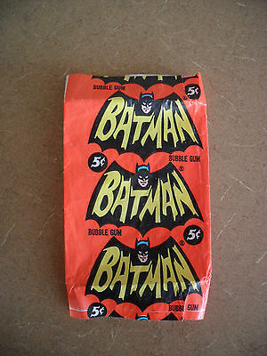 Vintage 1966 Topps Batman Trading Cards 5 Cent Wrapper
