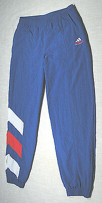 Vintage ADIDAS Equipment Nylon Track Pants (90s) Royal/Red/White LINED! WOW! M