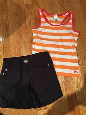 Girls  Outfit Justice Top And Celebrity Pink Shorts  Size 7