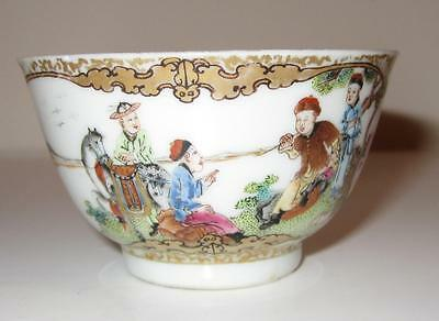 Finely Painted 18th Century Chinese Export Porcelain Bowl in the Meissen Style