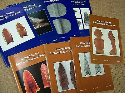 8 Journal Publications Of The Central States Archaeological Society, 2001-2002