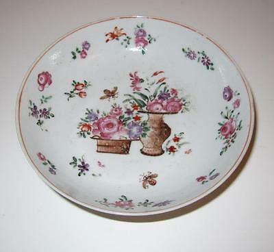 18th Century Chinese Export Porcelain Saucer