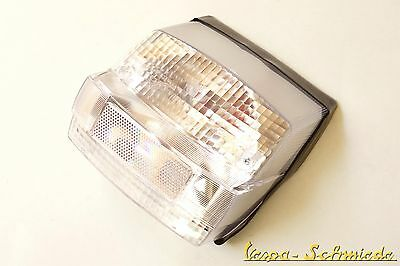 Vespa Rear Light incl. Gasket & Bulbs - White - PX Old - Clear Glass