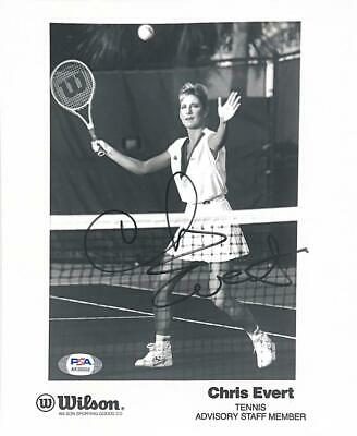 Chris Evert Hand Hand Signed Autographed Wilson 8X10 Photo With Coa Very Rare