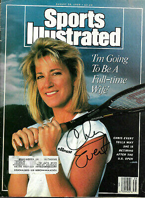 Chris Evert Hand Signed Autographed 1989 Sports Illustrated Magazine With Coa