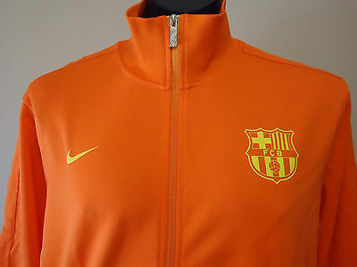 Barcelona Fc Authentic Nike N98 Jacket Orange Xxl New