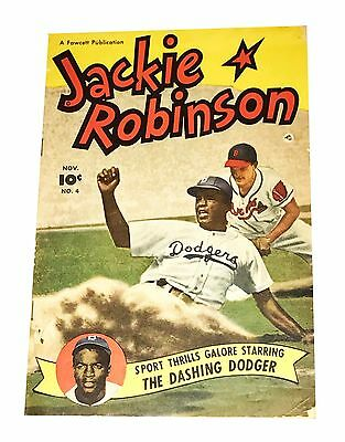 Jackie Robinson #4 Nov The Dashing Dodger Comic Book Very Rare No Reserve