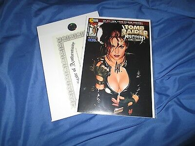 TOMB RAIDER JOURNEY'S #1 Signed  Art Comic by Adam Hughes w/COA ~Lara Croft