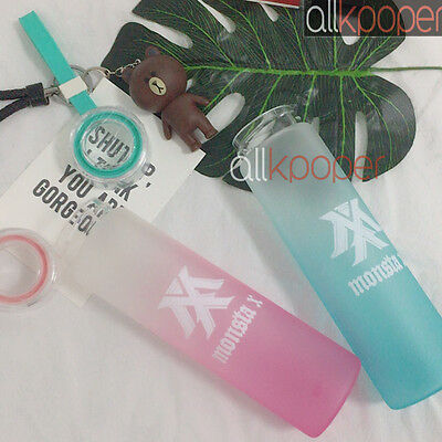 KPOP MONSTA X Water Cup Shine Forever Gradient Glass Bottle Shownu Frosted Drink