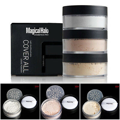 3 Color Face Soft Translucent  Foundation Waterproof Loose Setting Powder Makeup