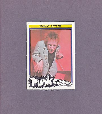 1977 Sex Pistols Johnny Rotten Holland Dutch Monty Punk  New Wave  Music Card