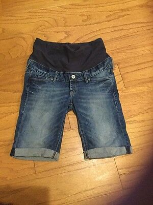 Maternity Denim Shorts From H&M, Size 6!