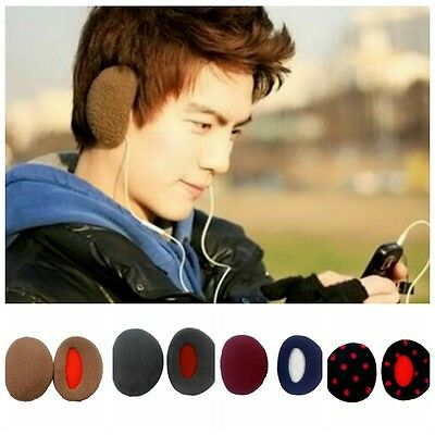 Earcap Winter Outdoors Earmuffs Bandless Fleece Ear Warmers Men Women